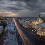 городские пейзажи Елена Гамза и Александра Рябенького