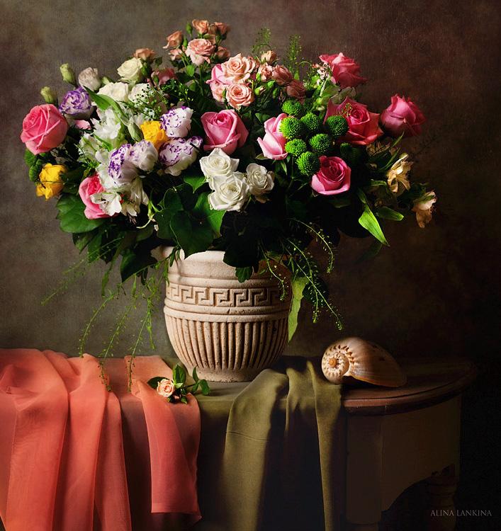 Фото натюрморты с цветами