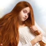 портреты рыжих девушек Сергея Бетца