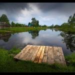 Деревенский пейзаж Алексея Лобанова