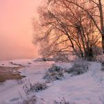 Живописный зимний рассвет Евгения Тюрина
