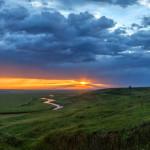 Пейзаж на рассвете и на закате Федора Лашкова