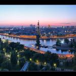 Ночной городской пейзаж Петра Ушанова