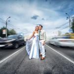 яркий свадебный портрет Евгения Мёдова