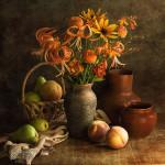 натюрморт с цветами Натальи Кулдашевой