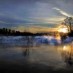 зимний закат Андрея Войцехова