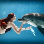 девушка и дельфины Эдуарда Ковальчука