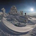 зимний пейзажи Сибири Александра Лихарева